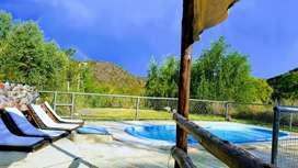 Cabaña tipo casa quinta privada en valle grande a costas del río Atuel San Rafael Mendoza