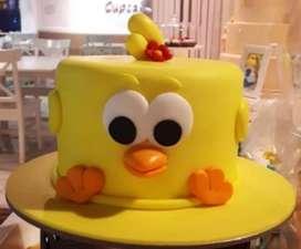 Torta personalizada masa elástica