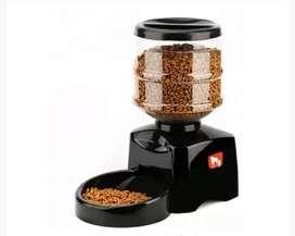 Dispensador automático de comida para mascotas con grabador de audio