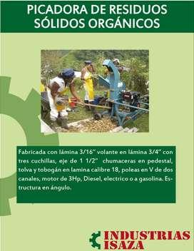 Picadora de residuos sólidos orgánicos
