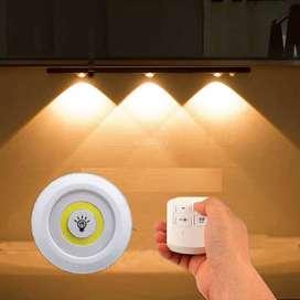 Lámparas luces LED x3 Multiusos luz de tacto control remoto COB