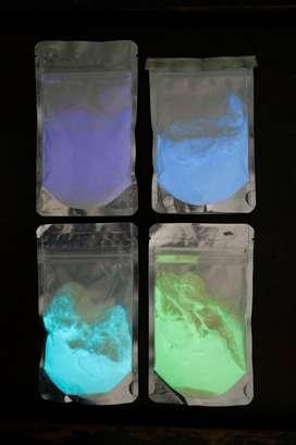 Lote pigmentos fosforecentes en polvo 400g - (importado)