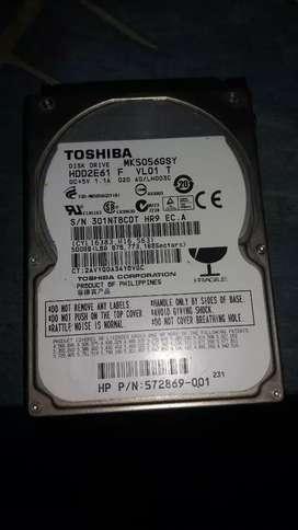Disco duro de laptop Toshiba 500gb