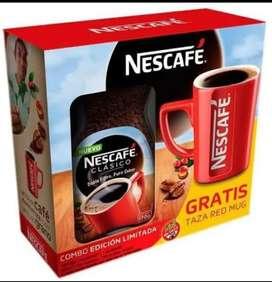 Combo Nescafé Tradición 170gr + Taza Red Muy Edición Limitada