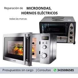 Reparación de MICROONDAS, HORNOS ELECTRICOS - Retiros y presupuestos sin cargo