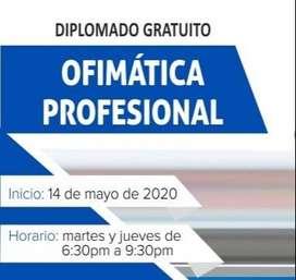 DIPLOMADO GRATUITO DE ALTA ESPECIALIZACIÓN EN OFIMÁTICA PROFESIONAL 2020 (VIRTUAL ONLINE)