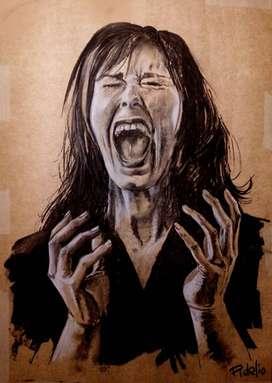 Dibujo.  Busto Femenino. Perfil psicológico