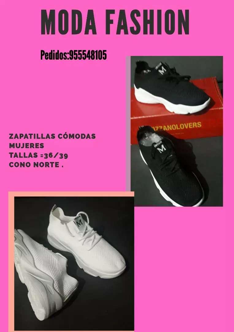 Zapatilla negra talla 37 y 38 0