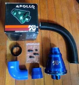 Filtro Apollo K&N y codo Samco SPORT