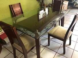 Comedor 6 puestos vidrio 19mm