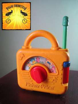 PULGAS Juguete Infantil Fisher Price Radio Vintage Pulgas Ciberneticas