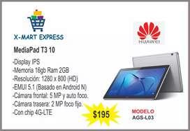 Tablet Huawei mediapad t3 10 16gb Nueva
