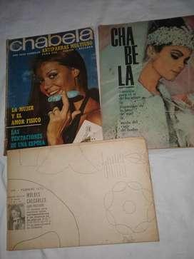 revista Chabela 64 y otra de febrero 73 moldes ropa