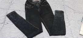Pantalon Jean Negro Y Chaleco Jean