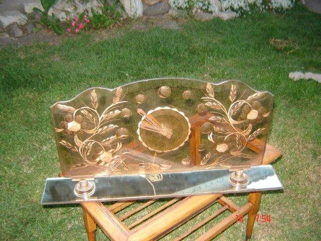 Reloj De Mesa Grande Art Deco Diseño Retro Vintage paraver 0