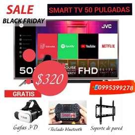 Smart tv jvc 50 pulgadas 4k de paquete