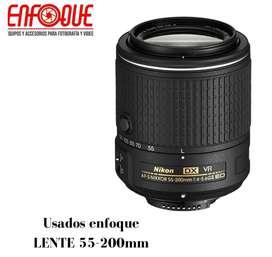 lente 55-200 para nikon