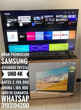 Gran Promo Samsung 43TU8000 CRYSTAL UHD 4k