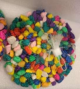 Piedras perlada multicolor para acuarios