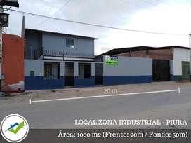 ALQUILER O VENTA LOCAL ZONA INDUSTRIAL PIURA ESPALDAS DE FERREYROS