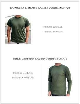 Busos y camisetas de uso militar y civil excelente calidad