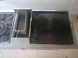 Estufa Industrial (Con plancha, freidora y dos estufas)