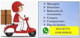 Servicio de Mensajería Urbana, solo Ibagué.