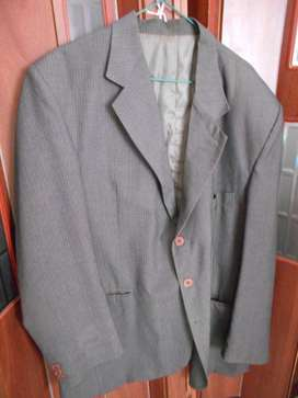Saco D Vestir Hombre Gris C/trama T.54 Usado En Pilar