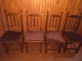 Vendo mesa redonda y sillas de algarrobo