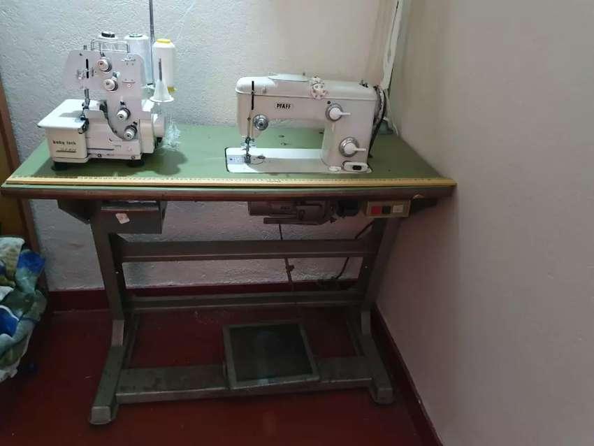 Máquina de coser marca paff y fileteadora baby luck 0