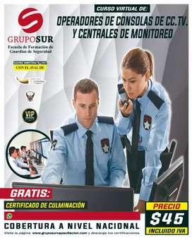 Operadores de consolas de CC.TV y centrales de monitoreo