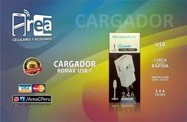 CARGADOR USB-C - CABLE TRANSFERENCIA DE DATOS