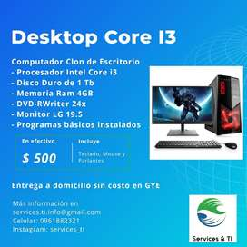 Computadora de escritorio i3
