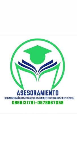 ASESORAMIENTO S.R  (TESIS, CASOS CLÍNICOS, MONOGRAFÍAS, PROYECTOS INVESTIGATIVOS, ENSAYOS)