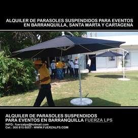ALQUILER DE PARASOLES SUSPENDIDOSBARRANQUILLA