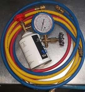 Manómetro manguera para aire