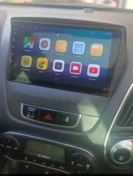 """Radio android Tucson ix35 , 9"""" con consola y conectores originales"""