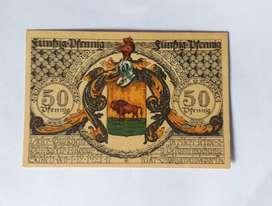 Billete alemán de emergencia de Schleiz, 50 pfennig, 1921