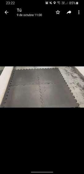 Planchas de goma 1x1 mtr 1500 c/1