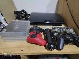 Playstation 3 + Kinect + 3 controles + 4 juegos originales