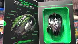 Mouse Gamer 8 Botones Weibo-912 cable Usb Retroiluminado