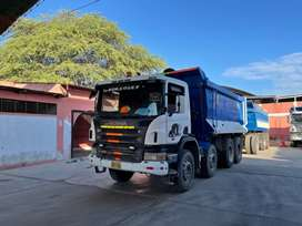 Volquete Scania con carreta