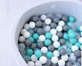 Pelotas Plasticas Piscina Gruesas Y Resistentes De 9.5gr