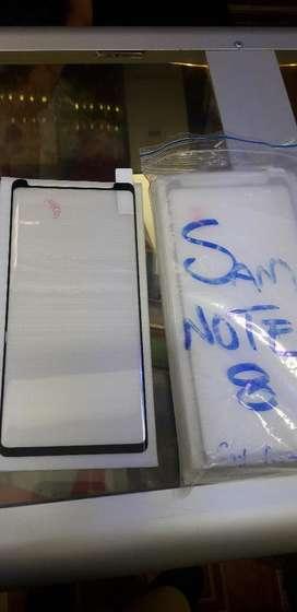 Vidrio Note 8 Pega Completa5d