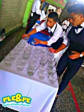 SERVICIO DE MESEROS PARA EVENTOS PROTOCOLO COCOTERIA