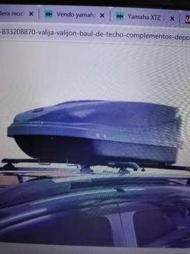 Vendo baul porta equipaje de gran capacidad para techo vehïculo