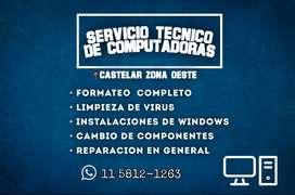 Servicio Tecnico de PC Zona Oeste