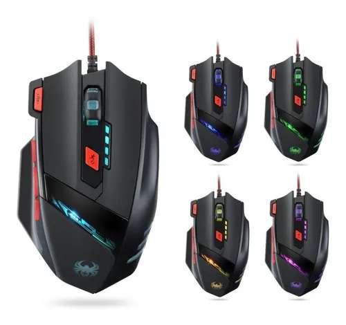 Mouse Gamer T90 Zelotes Profesional Led Optical 9200 Dpi
