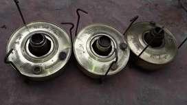 Lote 3 Calentador Bram Metal N 5 Antiguos Ideal Decoracion Velador