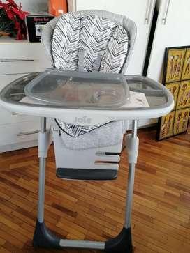 Flamante silla de comer para bebé importada marca Mimzy 2in1